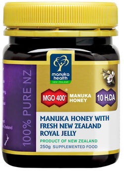 50% Discount - MGO 400+ Manuka Honey with Royal Jelly (250g)