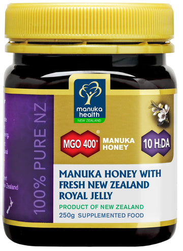 MGO 400+ Manuka Honey with Royal Jelly (250g)