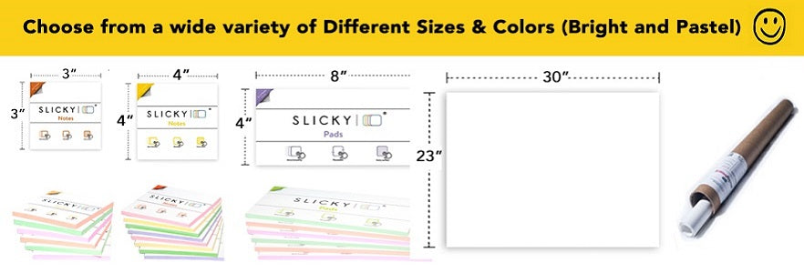 Different sizes and colors graphic - shop now