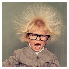 Boy with Static Electricity hair