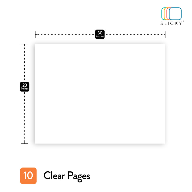 SlickyBoards Clear 10 sheets 23 in X 30 in