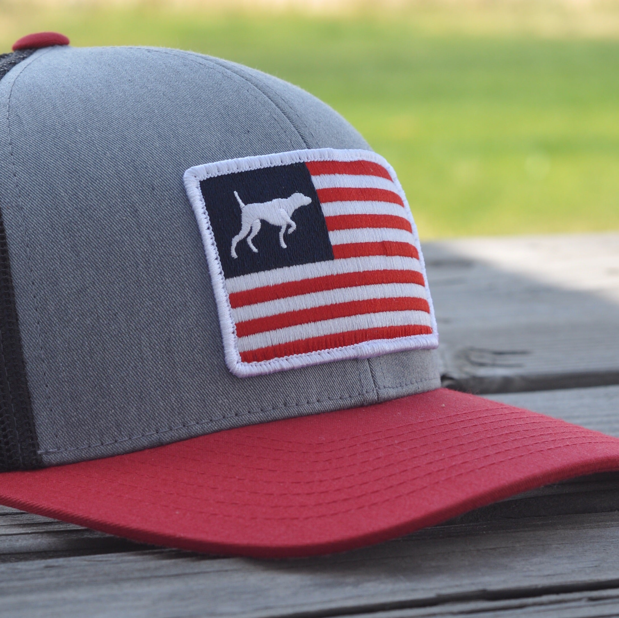 Red, White, and Bird Dogs Patch