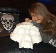 Load image into Gallery viewer, Bigfoot Skull Cast Artistic Interpretation by Master artist Mick Wood.
