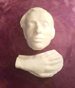 Chopin life mask Head and hand death cast