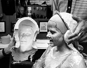 "Blair, Linda Blair life mask ""The Exorcist"" life cast"