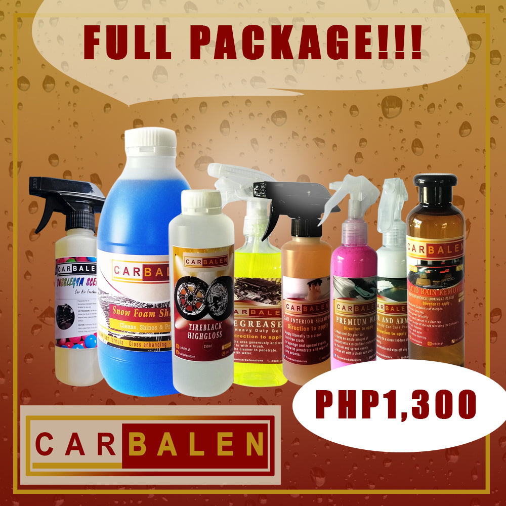 Carbalen Car Care FULL PACKAGE