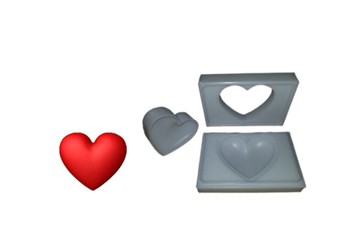 "3"" Heart Bath Bomb Molds - Bath Bomb USA"