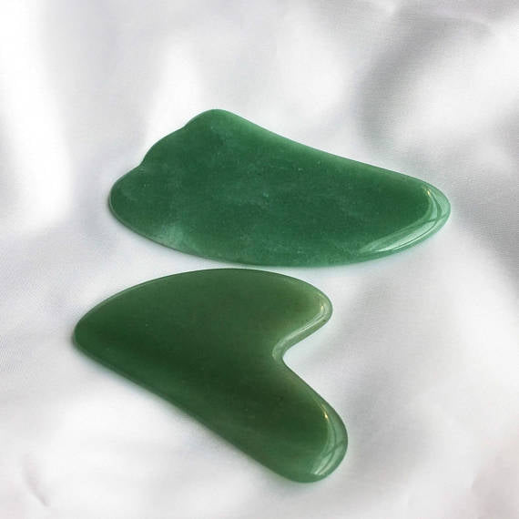 Set of 2 Facial Massagers for Skin Care, Anti-wrinkles, Anti-Aging Facelift,  Jade Massagers Gua Sha