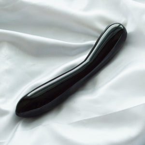 LARGE LONG BLACK OBSIDIAN Yoni Wand Pleasure Toy for Women, or for Crystal Healing