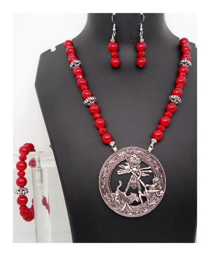 Antique Durga in Red - Inspired Creations