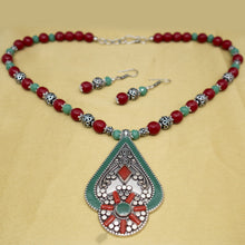 Load image into Gallery viewer, Nepali Pendant and Necklace