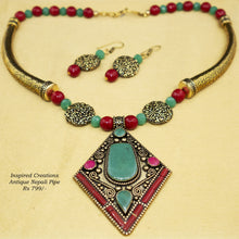 Load image into Gallery viewer, Antique Nepali Pendant Necklace