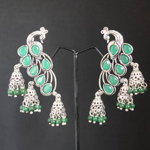 Load image into Gallery viewer, Peacock Jhumka Earring