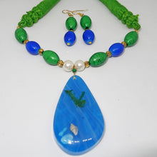 Load image into Gallery viewer, Blue Green with ocean Pendant - Inspired Creations
