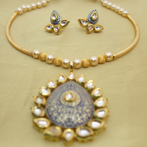 Blue Kundan Pipe - Inspired Creations
