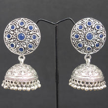 Load image into Gallery viewer, Jhumka Earrings - Indigo