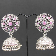 Load image into Gallery viewer, Jhumka Earrings - Pink