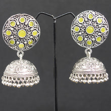 Load image into Gallery viewer, Jhumka Earrings - Yellow