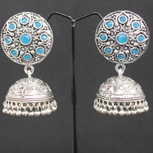 Load image into Gallery viewer, Jhumka Earrings - Blue