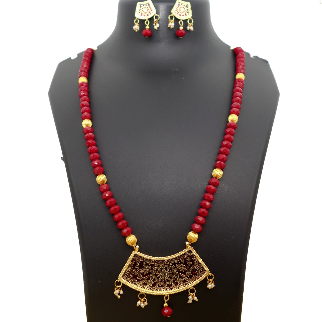 Crystal Maroon Thewa - Inspired Creations