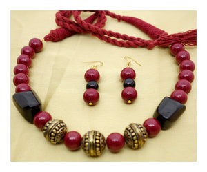 Maroon and Black with Golden Orb - Inspired Creations