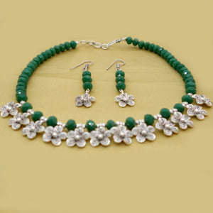 Green and Silver Flowers - Inspired Creations
