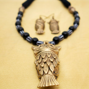 Dhokra Owl Black - Inspired Creations