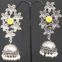 Load image into Gallery viewer, Flower Jhumka - Yellow