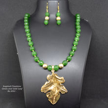 Load image into Gallery viewer, Green Agate Stone Necklace