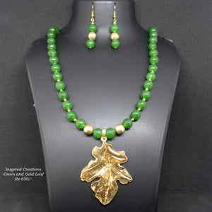 Green Agate Stone Necklace