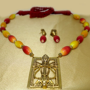 Maroon and Yellow Durga - Inspired Creations