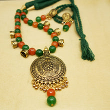 Load image into Gallery viewer, Orange and Green Jhumka