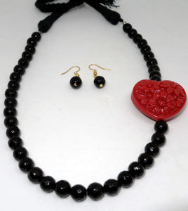 Red Heart in Black - Inspired Creations