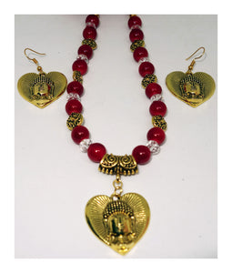 Red and Gold Buddha - Inspired Creations