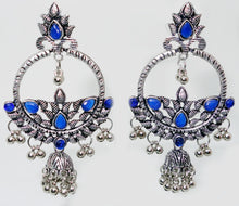 Load image into Gallery viewer, Round Earrings with Jhumka - Inspired Creations