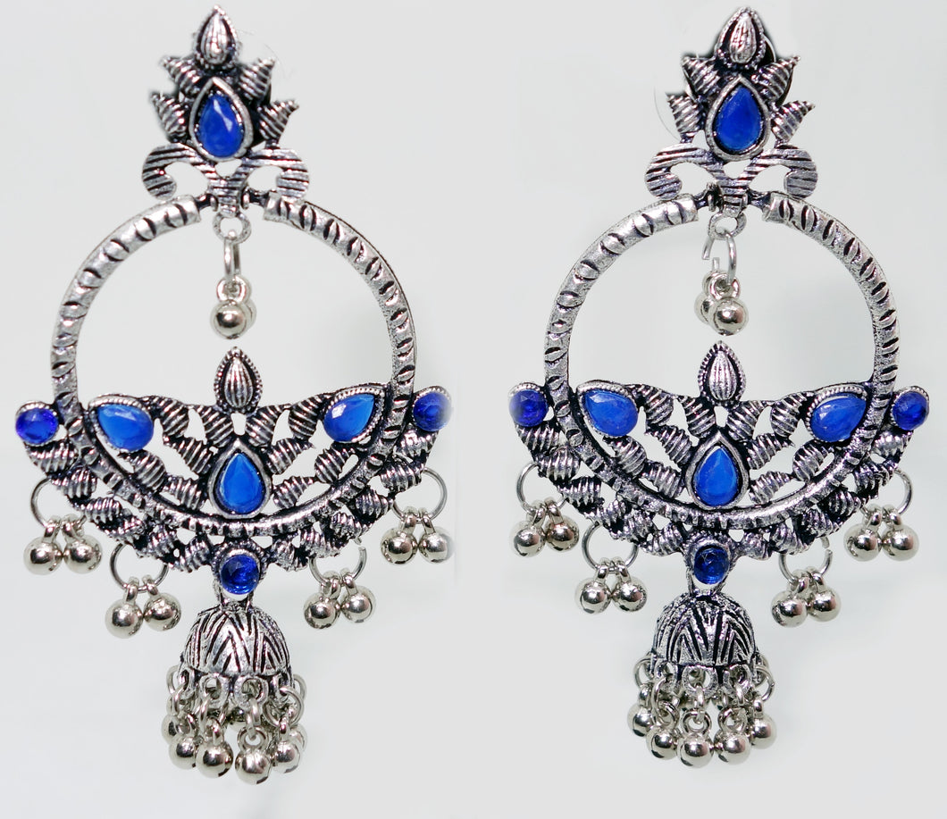 Round Earrings with Jhumka - Inspired Creations
