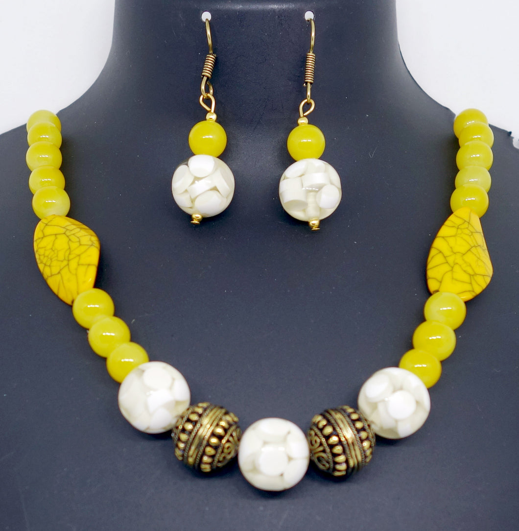Yellow spheres - Inspired Creations