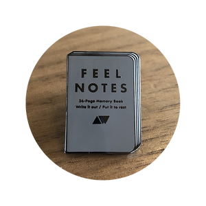 A.W. Feel Notes Enamel Pin
