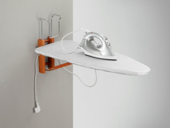 LovA Folding Wall-Mounted Ironing board with LovA Steam Iron