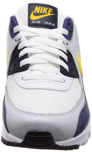 Load image into Gallery viewer, Men's Nike Air Max 90 Essential White Navy and Yellow Sneakers