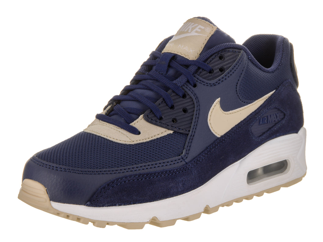 Women's Nike Air Max 90 Navy Blue and Cream Sneakers