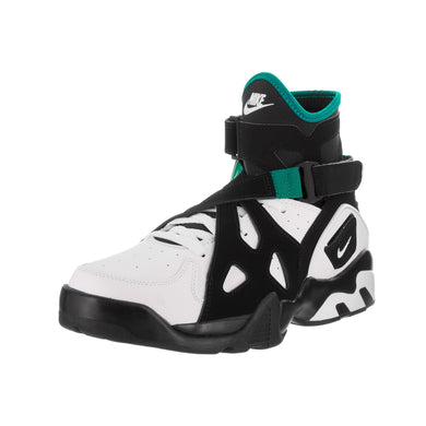 Men's Nike Air Unlimited Black and White Leather Basketball Shoes