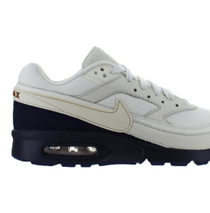 Men's Nike Air Max BW Premium White and Navy Sneakers