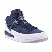 Load image into Gallery viewer, Men's Nike Jordan Spizike Midnight Navy/ Metallic Silver Sneakers