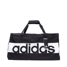 Load image into Gallery viewer, Adidas Black and White Logo Duffle Bag