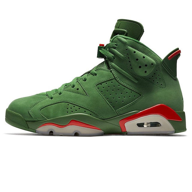 Men's Nike Air Jordan 6 Gatorade AJ6 Green Suede