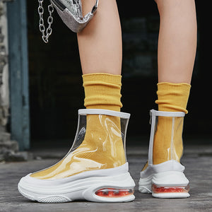 Women's See-Through High Top Sneakers