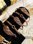 Rose gold feather bracelet