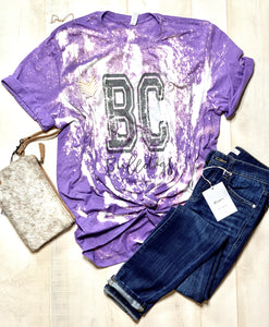 Bloom Carroll Bleached and Distressed School Spirit Tee