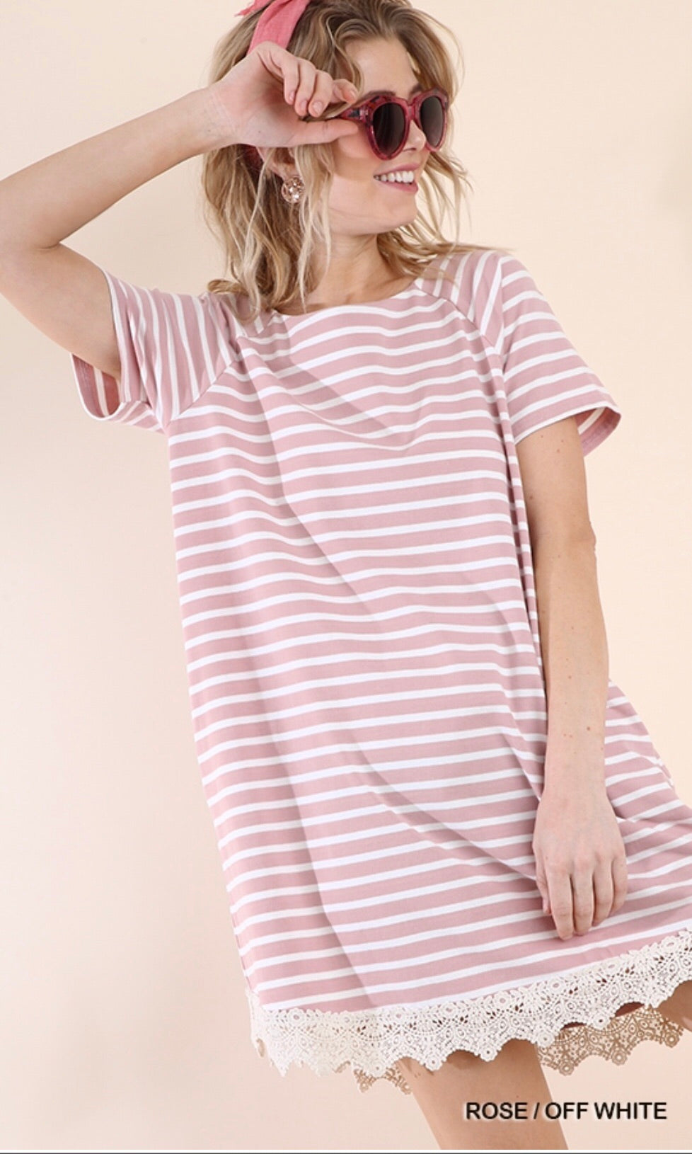 The Potter Dress (Mauve stripe)*